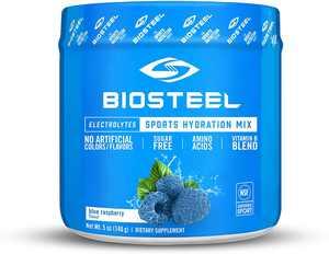 BioSteel Hydration Mix - Sugar Free, Essential Electrolyte Sports Drink Powder - Blue Raspberry - 20 Servings
