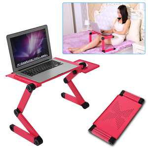 Zerone Portable Laptop Desk Notebook Stand Table Tray with Mouse Holder Sofa Bed