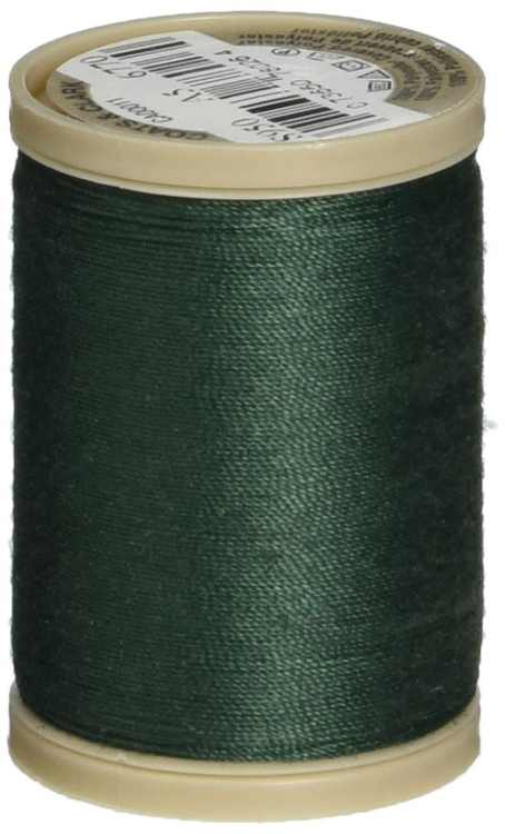 COATS & CLARK Dual Duty XP Heavy Thread, 125-Yard, Forest Green, Spool features the dual-trap system for a more secure storage without the spool unwinding By Coats Clark Inc