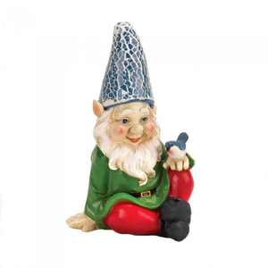Summerfield Terrace CHEERY GNOME SOLAR STATUE
