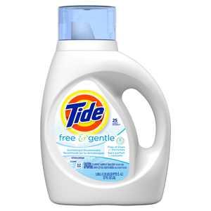 Tide Free & Gentle Liquid Laundry Detergent, 25 Loads 37 fl oz