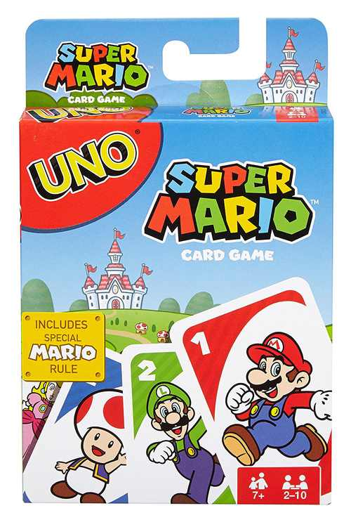UNO Super Mario Game, Brothers Action 25 Nintendo Spin Wheels World Mario Wacky Super Knex UNO Uno of Villager Mystery Pikmin Bundle Bag Attack Classic Code Edition Card By Mattel