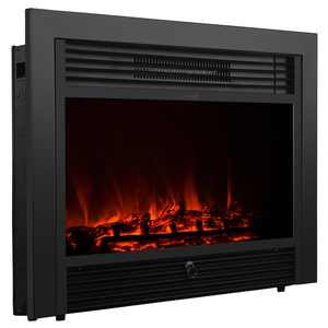 """28.5"""" Electric Fireplace 1500W Embedded Insert Heater with Remote, Realistic Wood"""