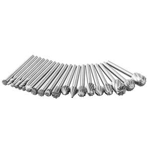 20 Pack HSS Routing Wood Rotary Milling Rotary File Cutter Tool Carbide Rotary Files Kit Tungsten Burr Set Fits Dremel Tool