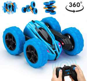 RC Stunt Toys Car Remote Control Car, 360 Flips Double Sided Rotating Race Car, 4WD Monster Truck Tumbling Crawler Vehicle, Best Gift for Kids