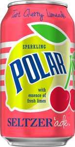 Polar Seltzer'ade, Tart Cherry Limeade, 12 Fl Oz, 24 Count