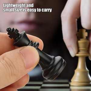 LYUMO International 32 Standard Chess Pieces Replacement Tournament Chessmen Black&White , Chess Set, Chessmen