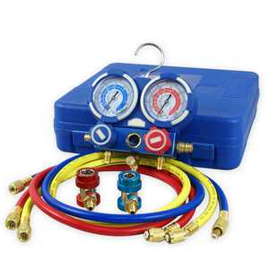Zeny HVAC A/C Air Refrigeration Kit AC Manifold Gauge Set Brass R134A R410A R22