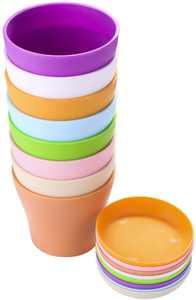 8 Pack Flower Pot  4 Plastic Mini Plant Pot, Round Succulent Nursery Pots for Indoor Outdoor Home Planter Decor Display - Colorful