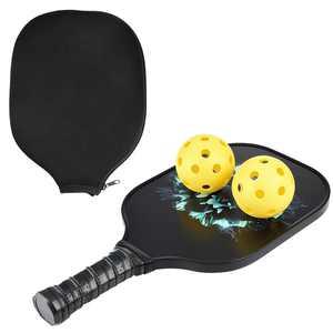 Graphite Pickleball Paddle with 2 pickle balls, Polymer Composite Pickleball Paddle Graphite Carbon Fiber Pickleball Racket