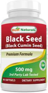 Best Naturals Black Cumin Seed Oil Softgels, 500mg, 90 Ct