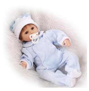 """16.5"""" Realistic Reborn Doll Real Life Baby Girl Dolls Newborn Kids Handmade Lifelike Silicone Vinyl Weighted Alive Doll for Toddler Gifts"""