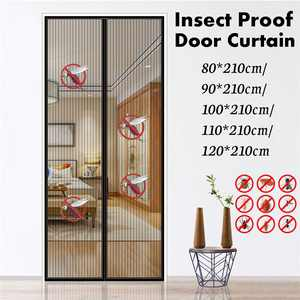 """47""""x 83"""" Magnetic Screen Door Mesh Window Curtain Keeps Mosquitoes Out Full Frame Pet Friendly Anti-Insect Fly Bug Mosquito Insect Magnetic Door Screen"""