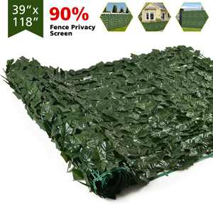 TINGOR Artificial DIY Ivy Privacy Fence Screen, 118x39.4in Artificial Hedges Fence and Faux Ivy Vine Leaf Decoration for Outdoor Decor, Garden Home Wall Decor