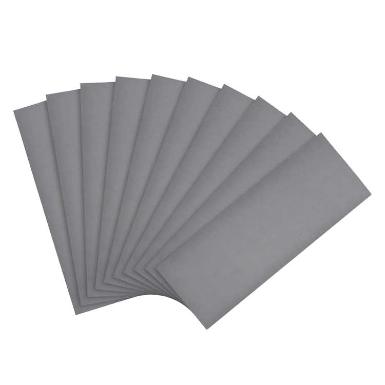 """Uxcell 9"""" x 3.7"""" 3000 Grit Silicon Carbide Waterproof Sandpaper 10 Pack"""