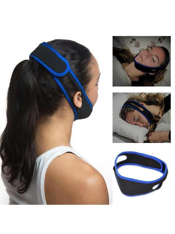 Anti Snore Stop Snoring Sleep Apnea Strap Belt Jaw Solution Chin Support