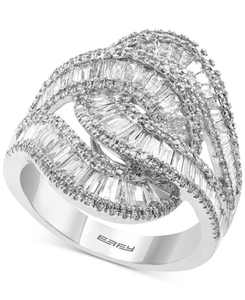 EFFY Diamond Baguette Interlocking Swirl Statement Ring (1-3/4 ct. t.w.) in 14k White Gold