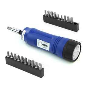 "Stark 21pcs Adjustable Torque Screwdriver 1/4"" Drive Inch/Pounds Precision Measurement Shank 10-50 in/lb with Bits Set & Storage Case"