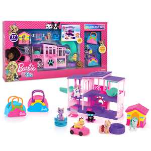Just Play Barbie Deluxe Pet Dreamhouse 15-Piece Playset, Preschool Ages 3 up