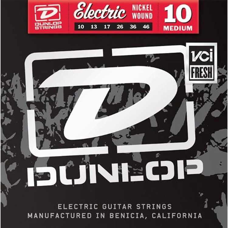 Dunlop - DEN1046 - Nickel-Plated Steel Medium Electric Guitar 6-String Set - .010-.046