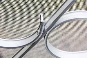 Camco 43991 - Deluxe Silver Screen Door Grille