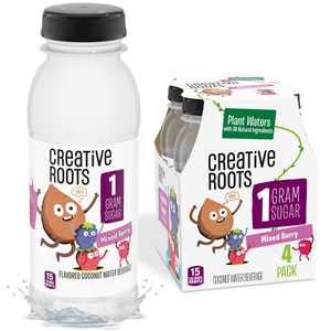 Creative Roots Mixed Berry Naturally Flavored Coconut Water Beverage, 4 ct Pack, 8.5 fl oz Bottles