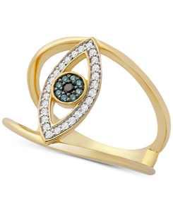 Diamond Evil Eye Ring (1/6 ct. t.w.) in 14k Gold, Created for Macy's