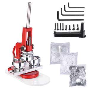 Yescom 2 1/4 inch 58mm Button Badge Maker Punch Press Machine with 1000 Pcs Pin-back Button Parts and Circle Cutter