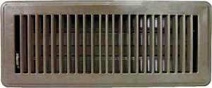 Worldwide Sourcing Floor Register 4 In H X 12 In W Steel Brown