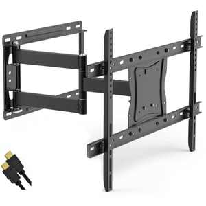 """Full-Motion Articulating, Tilt/Swivel, Universal Wall Mount Kit for 19"""" to 84"""" TVs with HDMI Cable (ONA16TM014E)"""