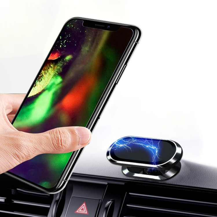 Car Phone Holder Mount, Magnetic Dashboard Phone Holder Clip for Car, 360 Rotation Cellphone Mount with Number Stickers, Fit for iPhone 13 12 11 Pro Max XS MAX XR X, Galaxy S20 S20+, All Smartphones