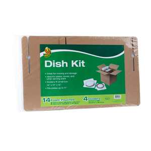 Duck Brand Dish Kit, 14 Pouches and 4 Corrugate Dividers (Box Not Included)
