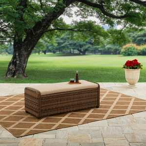 Better Homes & Gardens Hawthorne Park Outdoor Storage Ottoman