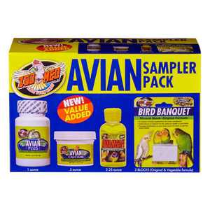 Zoo Med 097612140101 Avian Bird - Vitamins & Supplements Sampler Pack