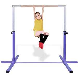 Costway Gymnastic Steel Horizontal Training Bar Junior Home Practice 3'-5' Adjustable