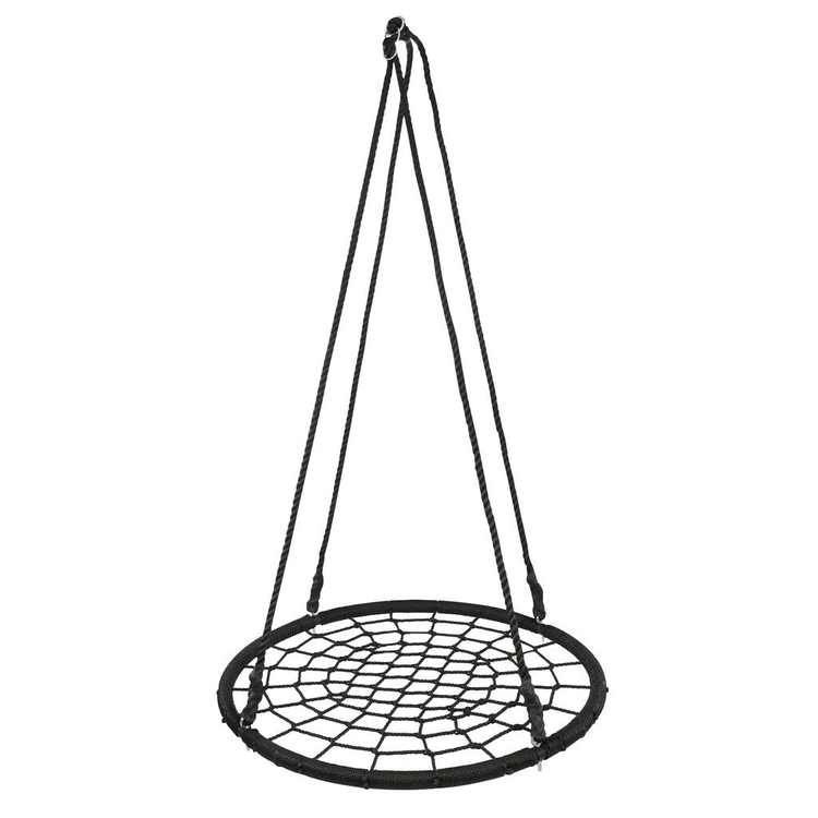 "ZENSTYLE 40"" Kids Spider Web Tree Net Swing Round Spider Net Swing Platform Set with Adjustable Hanging Ropes Kits,Max 600 Lbs, Extra Safe and Durable, Fun for Kids"