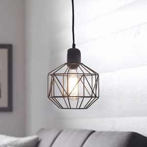 Better Homes & Gardens 1-Light Bronze Metal Cage Swag Pendant Light