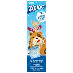 Ziploc Brand Holiday Freezer Gallon Bags, 14 CT