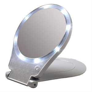 Floxite 10x Lighted Travel and Home Mirror