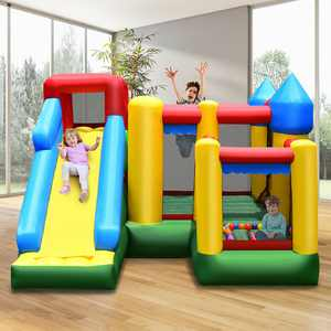 Costway Mighty Inflatable Bounce House Castle Jumper Moonwalk Bouncer w/735W Blower