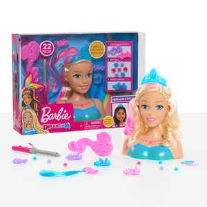 Barbie Dreamtopia Mermaid Styling Head, 22 pieces, Preschool Ages 3 up by Just Play