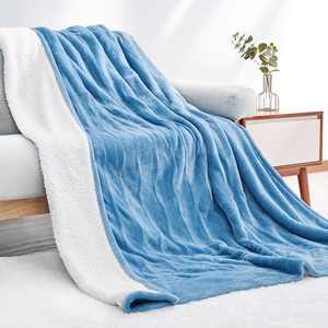 """Entil Electric Heated Blanket Twin Size 62""""x 84"""" Flannel & Shu Velveteen Reversible, Fast Heating and for Full Body Warming with 10 Hours Auto Off & 4 Heat Settings, Machine Washable, Home Office Use"""