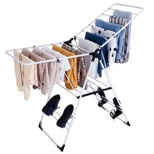 Costway Laundry Clothes Storage Steel Drying Rack Portable Foldable Heavy Duty