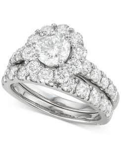Certified Diamond Bridal Set (3 ct. t.w.) in 18k White, Yellow and Rose Gold
