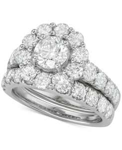 Certified Diamond Bridal Set (4 ct. t.w.) in 18k White, Yellow or Rose Gold
