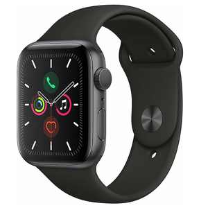 Refurbished Apple Watch Series 5 40mm GPS Aluminum Space Gray Black Sport Band Smartwatch