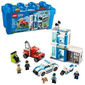 LEGO City Police Brick Box 60270 Action Cop Building Toy for Kids (301 Pieces)