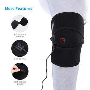 Yosoo Heating Knee Pad,Heated Knee Brace Far Infrared Heat Therapy Heating Knee Brace Wrap for Arthritis Pain Rheumatism Varicose Veins Joint Pain Graphene Knee Heating Pad 100-240V