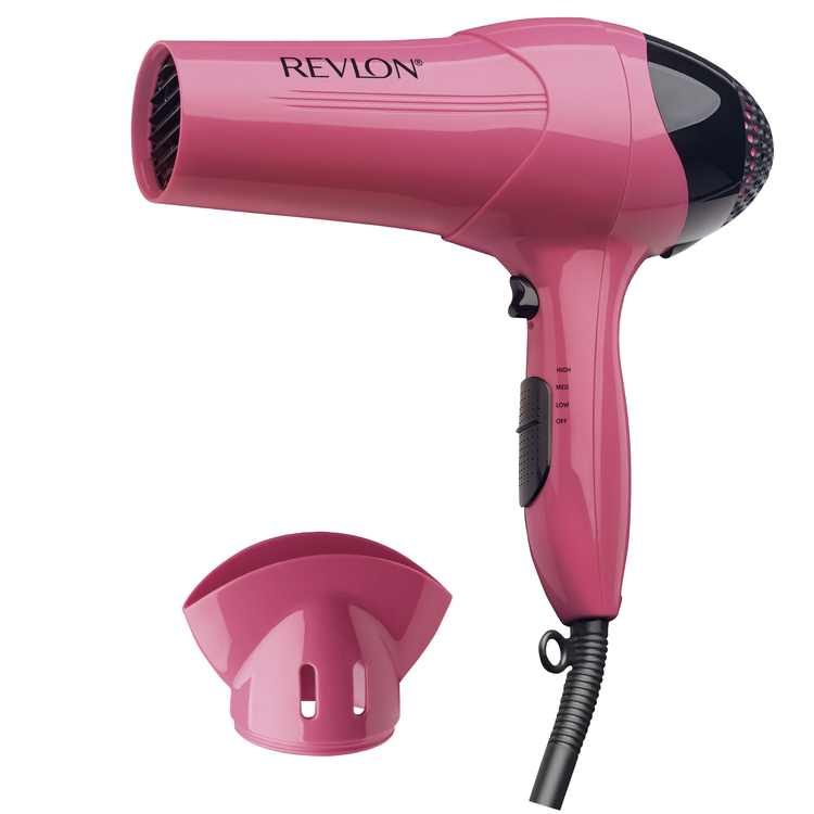 Revlon Essentials Lightweight Ionic Hair Dryers, Pink with Concentrator