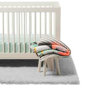 Crib Bedding Set Geo Bright - Cloud Island™ Green